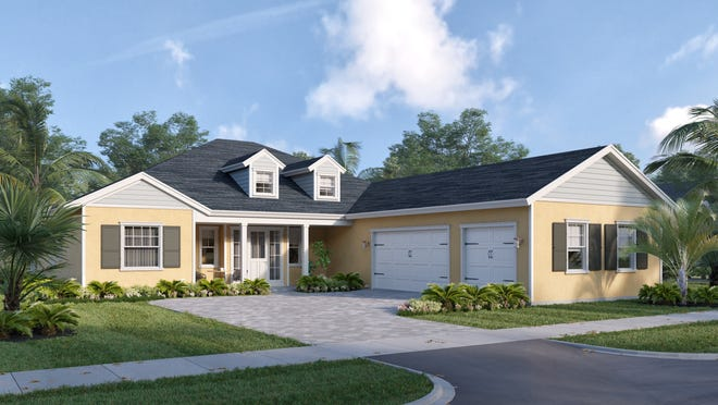 The Lily Rose model has 3,855 square feet under roof.