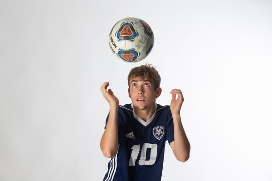 Naples High School senior soccer player Jack Bole