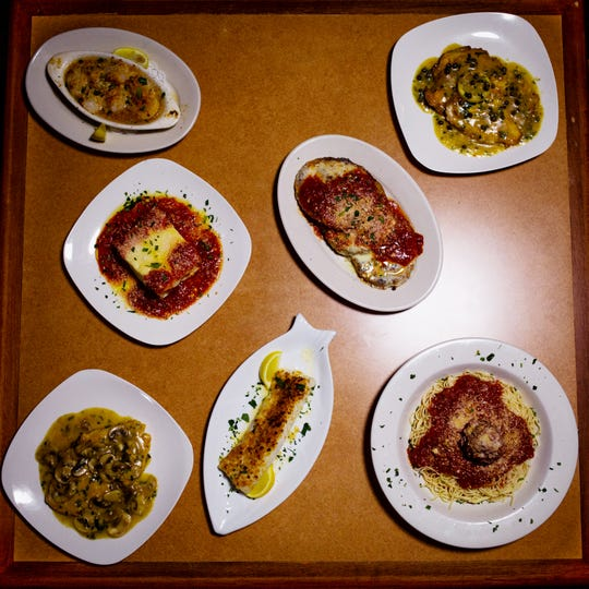Dishes prepared at Di Julio's, an Italian-American restaurant, in East Naples on March 22, 2019. The restaurant recently celebrated its 30th anniversary.