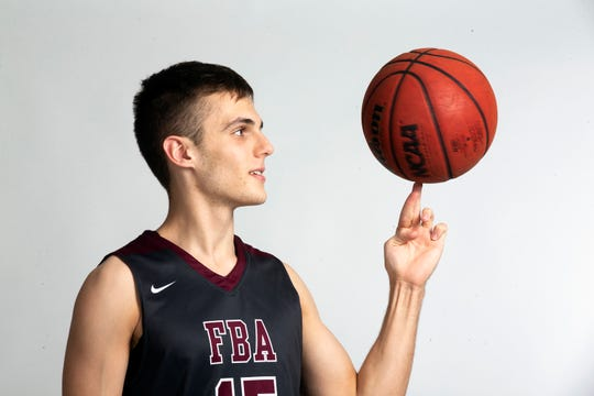 First Baptist Academy senior basketball player Preston Urbancic