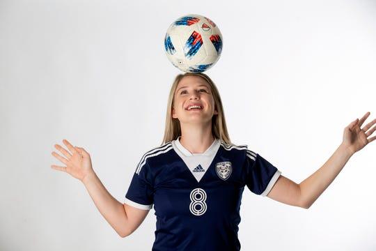 Naples High School senior soccer player Jill Kinstler