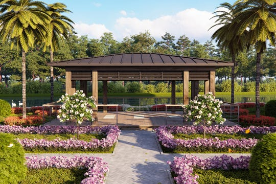 One of the unique amenities available to residents at Moorings Park Grande Lake is its outdoor yoga pavilion.