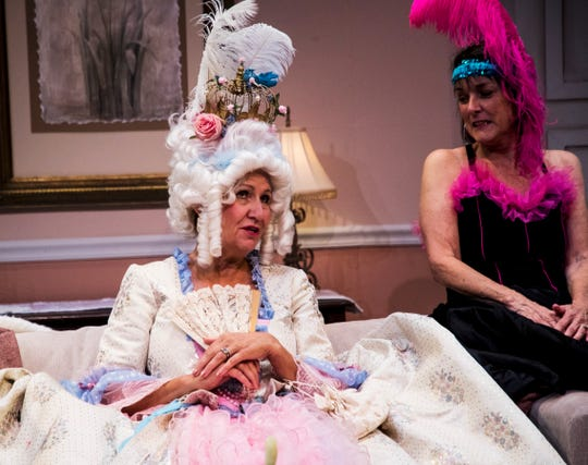 "Pamela Austin, as Monette,  and Judy Scribner, as Libby Ruth, play best friends in  ""Always a Bridesmaid."" It is  at the Tobye Theatre at Sugden Community Theatre on Fifth Avenue South in Naples through April 20."