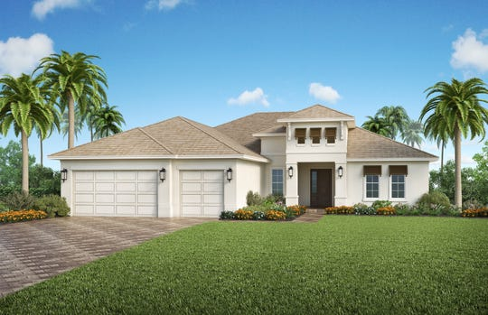 The Plantation III is one of four models in Canoe Landing.