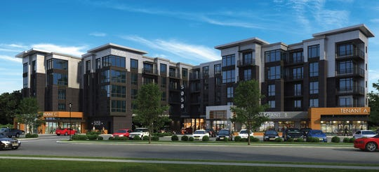 Rendering of Fifty58, a new multi-family luxury apartment complex that opened in Paramus this month.