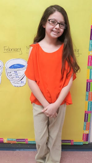 Fifth grader at White Mountain Elementary School, Kendra Cook, has been chosen as Student of the Month for March by her teacher. Kendra enjoys helping others, writing stories, and being on the honor roll.