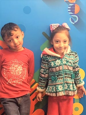 "Micah Chavez (left) and Catalyna Badillo (right) are Sierra Vista Primary's ""Student in the Spotlight"" for March. The two were chosen for their hard work, kindness, and respect for their teachers, staff and fellow classmates each day."