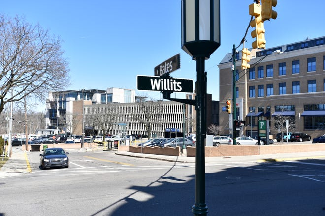 Birmingham is considering a proposal to  demolish the North Old Woodward parking steucture and construct a new new one in its place, as well as extend Bates Street and add new mixed use buildings in a massive multi-million dollar project.
