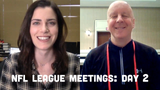 Pete Dougherty checks in with Olivia Reiner from the NFL League Meetings to discuss head coach Matt LaFleur's remarks.