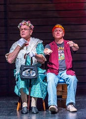 """Alan Denny (left) and Chuck Yates star in the Coyote Stageworks production of """"Greater Tuna,"""" now playing at the Annenberg Theater in the Palm Springs Art Museum."""
