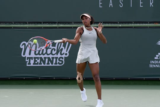 Tyra Black, No. 1 seed opens with a win in first round ITF Girls 18s Tuesday at the Indian Wells Tennis Garden.