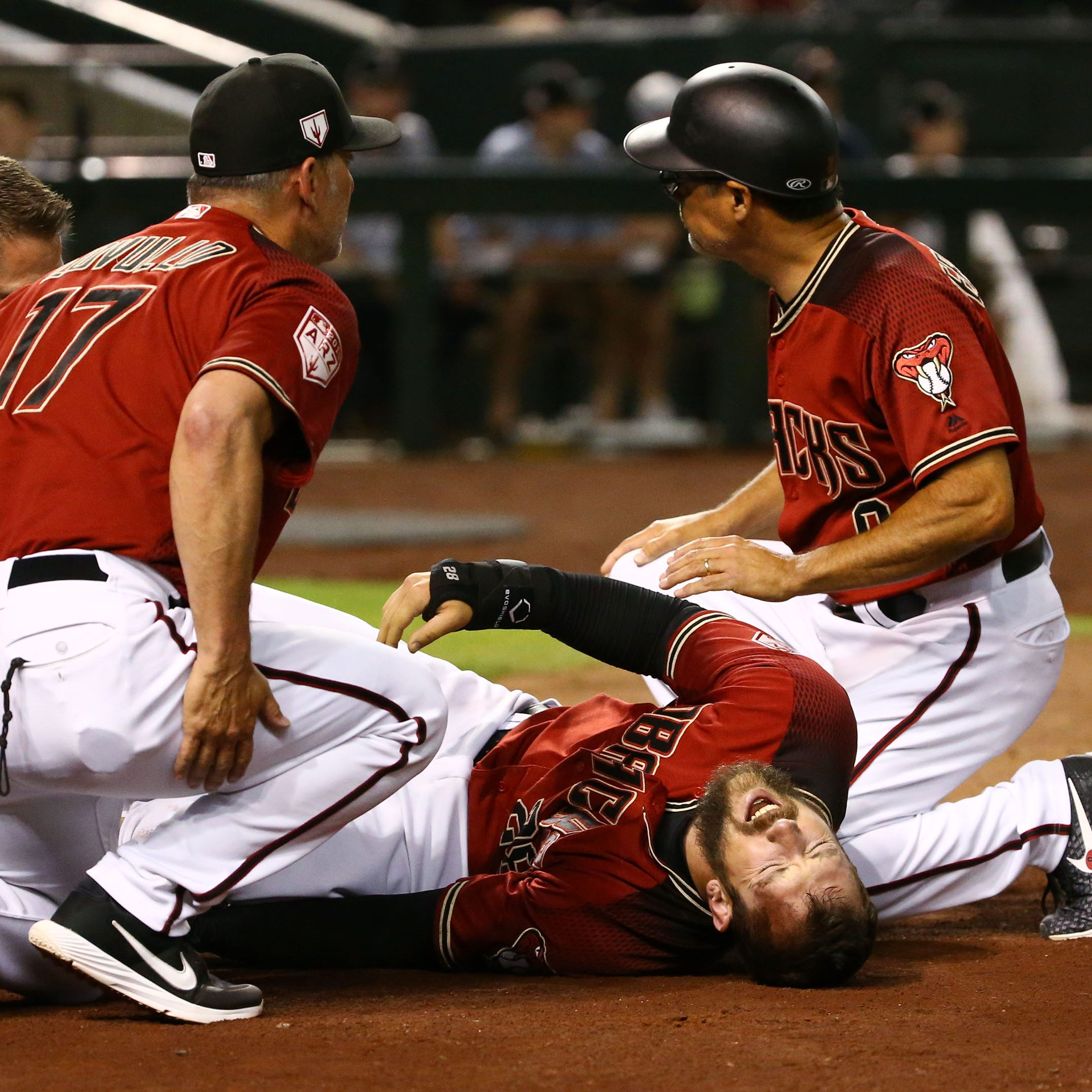 Diamondbacks' Steven Souza Jr. to undergo MRI after exiting exhibition with left-knee injury