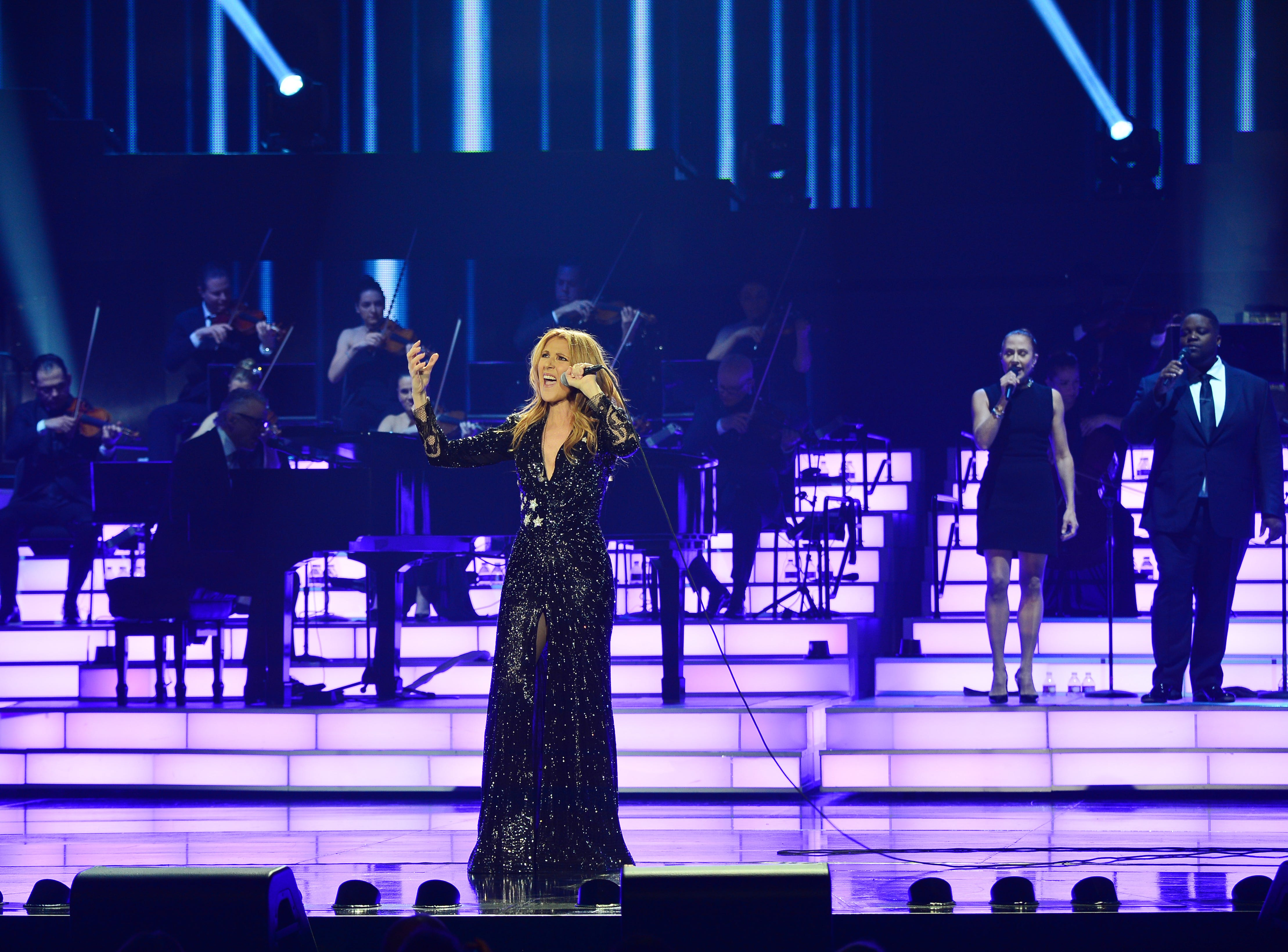 Celine Dion performs at the Colosseum at Caesars Palace in Las Vegas on Feb. 23, 2016. Her second residency comes to an end on June 8, 2018.