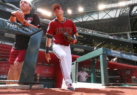 Jake Lamb will have to replace Paul Goldschmidt at first base following the slugger's trade to the Cardinals in the offseason.