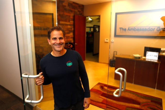 David DeLorenzo, owner of Bar and Restaurant Insurance Group, in his office in Phoenix on March 21, 2019.