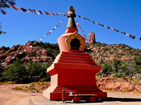 The Amitabha Stupa and Peace Park in Sedona is open from dawn to dusk for visitors of all faiths.