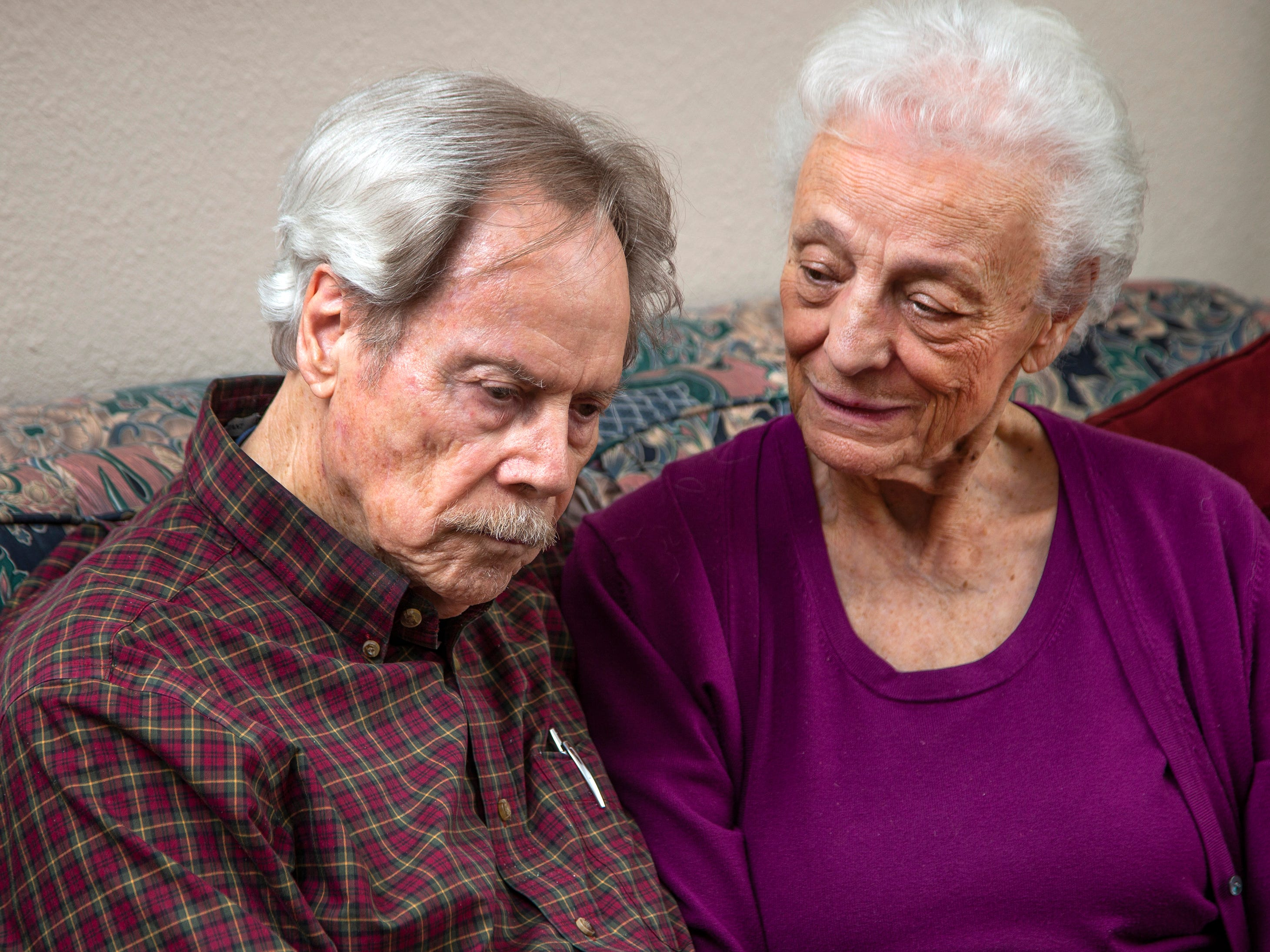 Frank and Betty Lusk are in their late 80s and say they were pressured by Diamond Resorts into buying a $150,000 timeshare with a yearly maintenance fee. They talk about their ordeal at their West Valley home March 19, 2019.