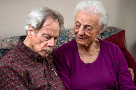 Frank and Betty Lusk are in their late 80s and say they were pressured into buying a $150,000 timeshare with $19,000 yearly maintenance fees by Diamond Resorts. They talk about their ordeal at their West Valley, Arizona, home March 19, 2019.