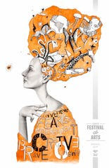 The Tempe Festival of the Arts spring festival poster features artwork by local illustrator Karolina Adams.