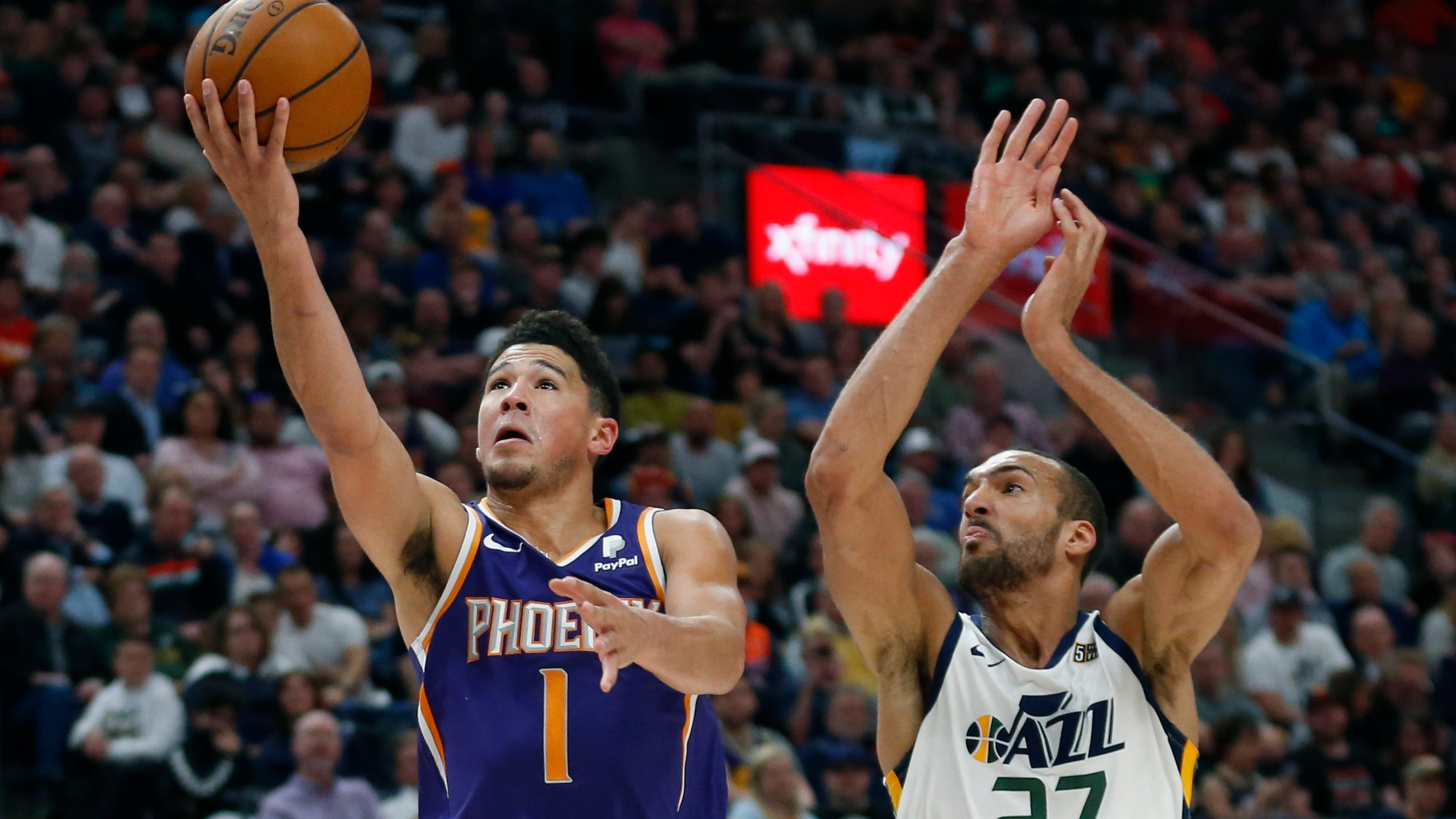 a39ba8bb224 Phoenix Suns: Devin Booker drops 59 points, but Jazz crush Suns in Utah