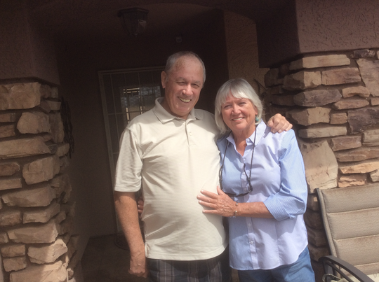 Michael Cullen poses for a picture in Mesa on March 26, 2019, with his wife of 46 years, Carol Anne Cullen.