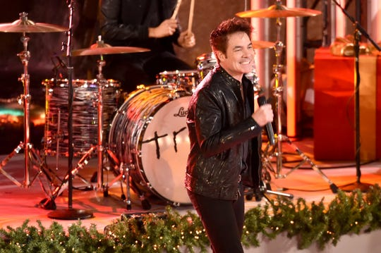 Patrick Monahan of Train performs at the 85th Rockefeller Center Christmas Tree Lighting Ceremony at Rockefeller Center on November 29, 2017 in New York City.