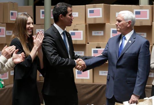 Juan Guaidó, Mike Pence.