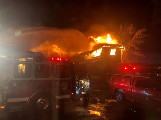 The Whitmore family's home in Clay Township was destroyed in a fire Monday night.