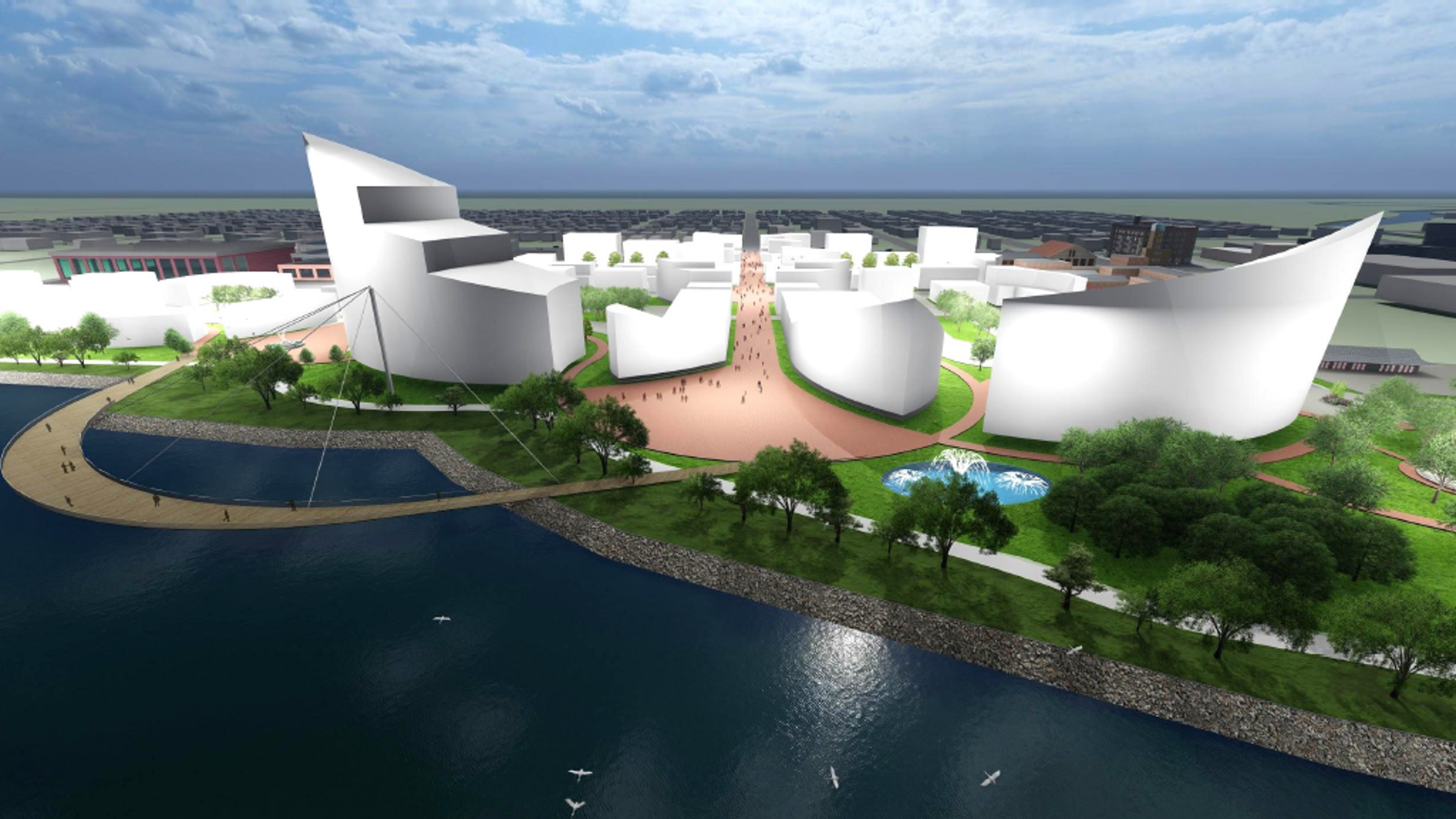 A study commissioned by the Economic Development Alliance of St. Clair County, the city of Port Huron and Acheson Ventures, which owns Desmond Landing on the St. Clair River, shows conceptual plans to show to developers that include hotel and entertainment, residential and other mixed-use buildings.