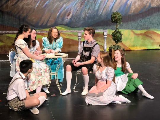 "The Von Trapp children talk about their governess who has just returned to them in the Roy C. Ketcham High School's Masque and Mime Society production of ""The Sound of Music."" Picture, left to right, are students Tommy Galletta, Callie O'Shea, Avery Nurzia, Angel McLees, Glen Chitty, Alanna Nappi and Jasmin Gunn."