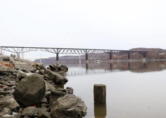 Consider learning how to row, a workout with a great view, such as this vantage point of the Walkway Over the Hudson and Mid-Hudson Bridge as seen from the Hudson River Rowing Association boathouse in Poughkeepsie.