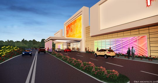 A rendering of the proposed mini casino Greenwood Gaming and Entertainment Inc. plans to build on Cramer Road near exit 29 off Interstate 81 in Shippensburg Township. The new business will be a miniature version of the Parx Casino in Bensalem, opening with 475 slot machines and 40 table terminals.