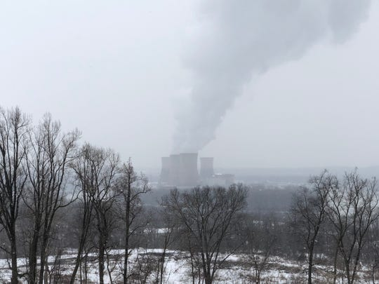 Three Mile Island, as seen from Sunset Golf Course, in Middletown, Friday, March 8, 2019. (Photo by: Lindsay C. VanAsdalan)