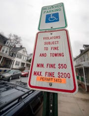 North York has a permit system that assigns a handicapped parking space to an individual who pays and initial fee and a yearly fee. Someone with a handicapped mirror hanger could get a ticket parking in a permitted handicapped spot.