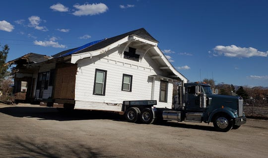 The historic Humphrey House is set to be trucked from the UNR Gateway District on March 28, 2019, the first of the 12 homes in the district to be re-located to avoid being demolished.