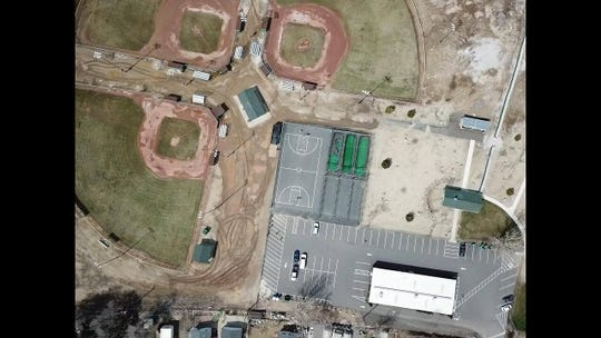 The baseball fields in Lemmon Valley are  closed due to too much water.