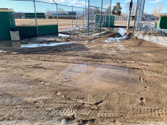 The baseball fields in Lemmon Valley have been closed due to too much water.