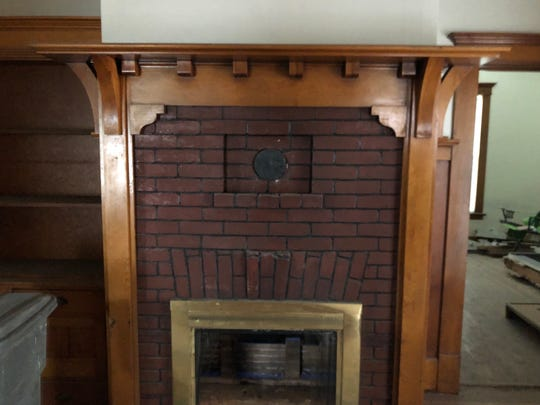 An original fireplace surround will be preserved for use in renovations after the historic Humphrey House is moved from the UNR Gateway District to its new location on South Arlington Avenue.