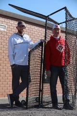 Dave and his father, John Valle,  created a device that keeps the batter and a pitcher safer during batting practice.  It's called the Valle Shield.
