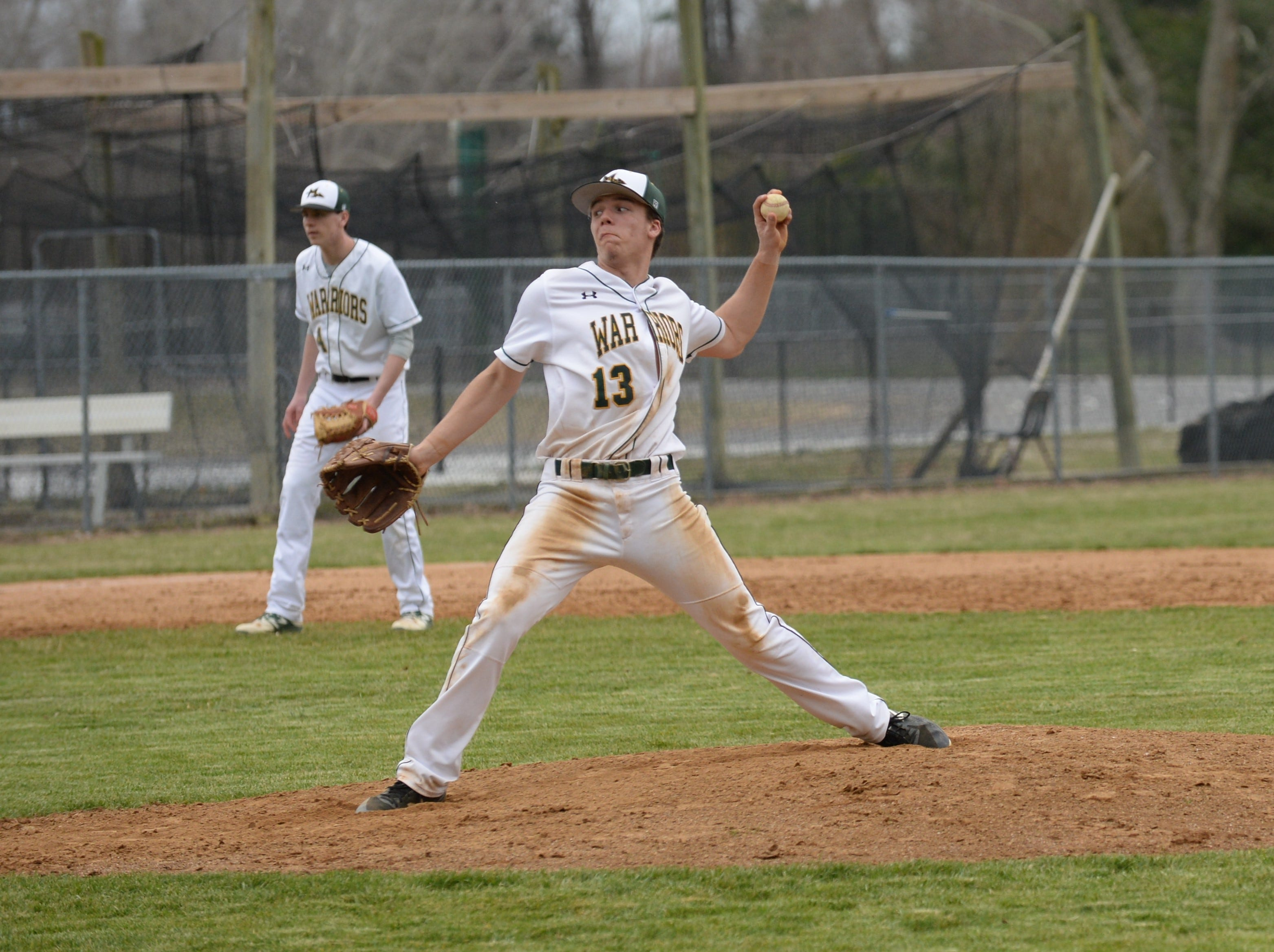 Mardela pitcher Nathan Harper recorded a no-hitter against Pocomoke on Monday, March 25, 2019.
