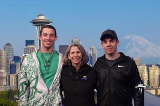 Elizabeth Rich and her sons Andrew and Jacob.