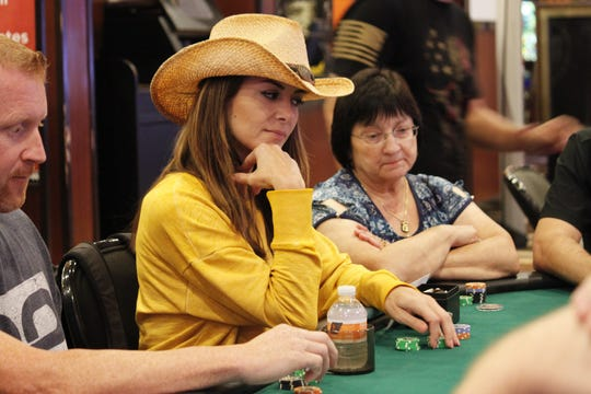Poker pro Mina Greco plays in the RunGood Poker Series during the circuit's last visit to Bossier City.