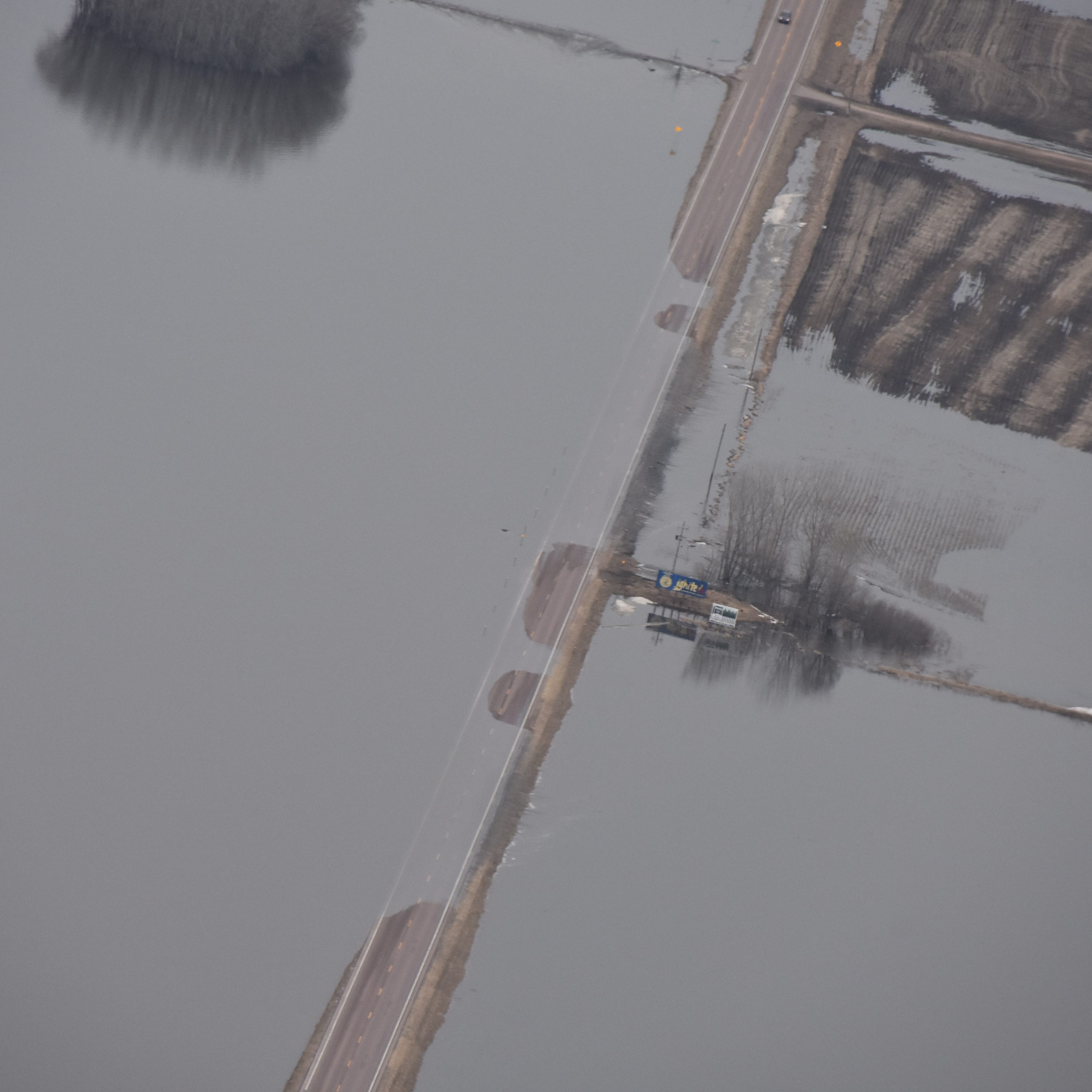 View aerial photos of Big Sioux flooding