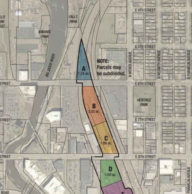 Fiber optic line under rail yard land could limit development potential