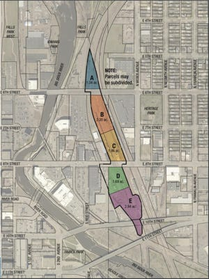 The property for sale by the city of Sioux Falls, formerly part of a railway yard.