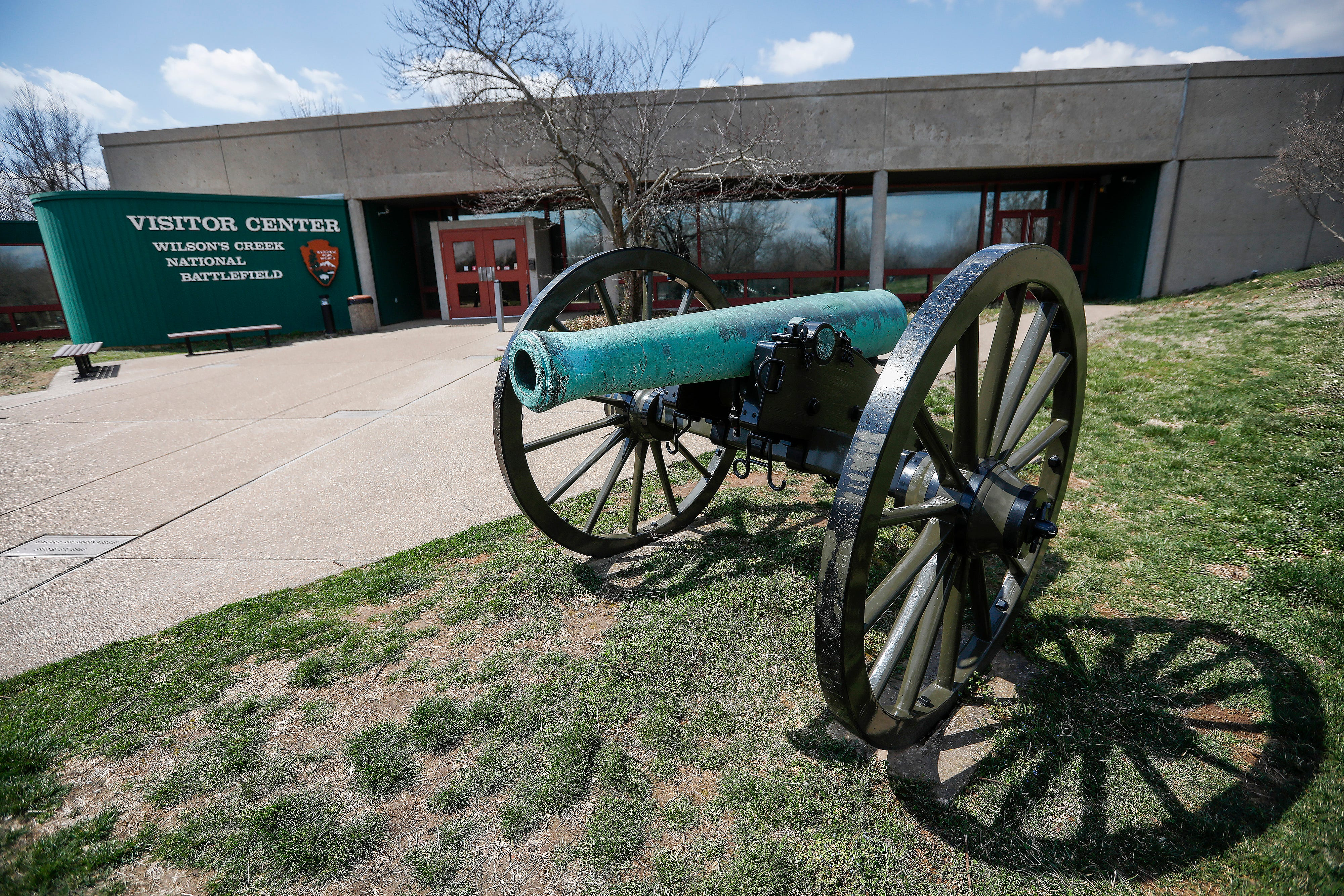 Changes will be made to the exterior of the visitors center at Wilson's Creek National Battlefield during the renovation.