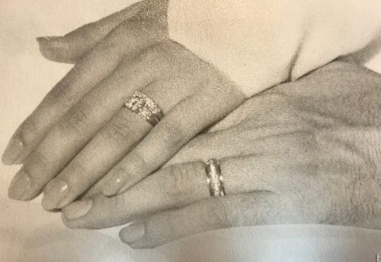 James Mac Case and Karen Davis, both of Marshfield, were wed on Aug. 28, 1959.  She was 17 and he was 23.   James had sold his prize-winning cow, June, to get the money to buy her ring.