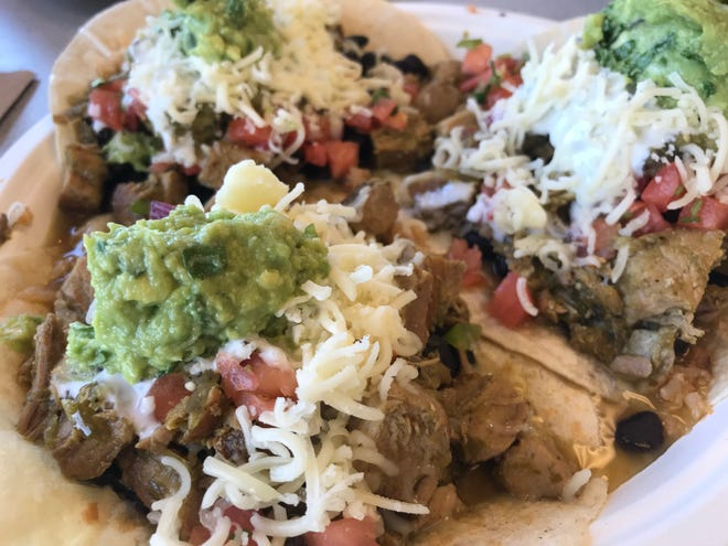 Lamy's Mexican Grill serves up chile verde tacos.