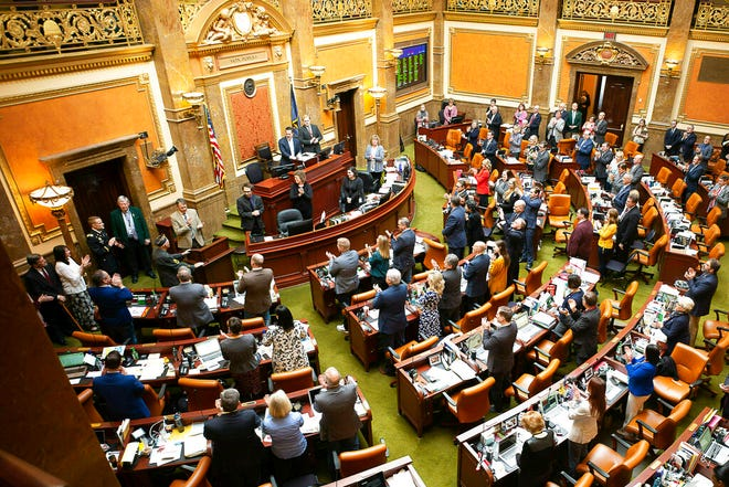 In this March 14, 2019, file photo, the House Representatives are shown on the last day of the 2019 Utah legislative session, at the Utah State Capitol.