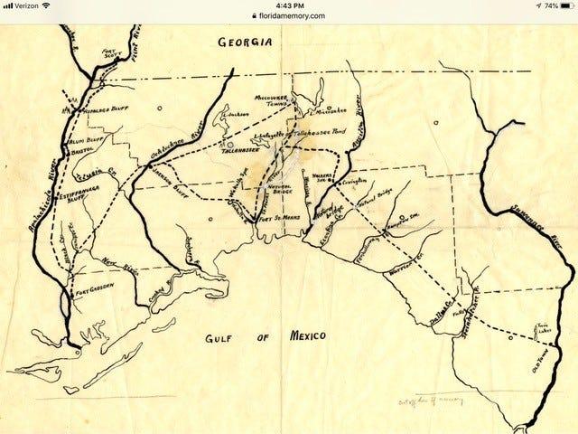 Map of Miccosukee area